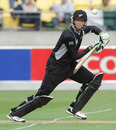 Martin Guptill made a brisk 40 at the top of the order, New Zealand v Pakistan, 1st ODI, Westpac Stadium, Wellington, January 22, 2011