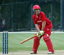 Carsten Pedersen in his batting stance, Denmark v Italy, WCL Division Three, Hong Kong Cricket Club, January 22, 2011