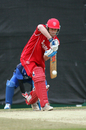 Denmark captain Michael Pedersen defends, Denmark v Italy, WCL Division Three, Hong Kong Cricket Club, January 22, 2011