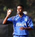Gayashan Munasinghe picked up 2 for 43, Italy v Papua New Guinea, WCL Division 3, Wong Nai, January 23, 2011