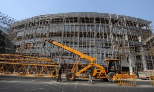 Plenty of work remains to be done at Eden Gardens six weeks before the World Cup, Kolkata, January 5, 2011