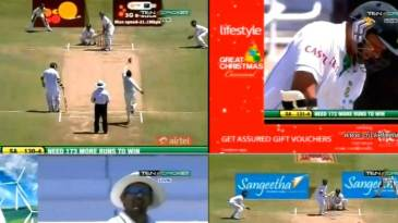 A collage of the images from the coverage of the India-South Africa series on Ten Cricket