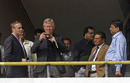 ICC officials take pictures of Eden Gardens