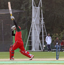 Oman's Awal Khan is bowled against Hong Kong during the ICC WCL Division 3 match played at Kowloon Cricket Club on 23rd January 2011