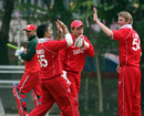 Jacob Larsen finished with 4 for 59, Denmark v Oman, WCL Division Three, Kowloon, January 28, 2011