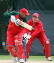 Al Said is well stumped by Freddie Klokker, Denmark v Oman, WCL Division Three, Kowloon, January 28, 2011
