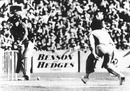 Trevor Chappell rolls the final ball of the match on the floor to prevent Brian McKechnie from hitting a six to tie the game, Australian v New Zealand, B&H World Series, Melbourne, February 1, 1981