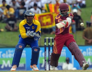 Adrian Barath pulls during his hundred, Sri Lanka v West Indies, 1st ODI, SSC, Colombo, January 31, 2011