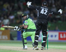 Shahid Afridi was trapped leg-before by Daniel Vettori for 4, New Zealand v Pakistan, 4th ODI, Napier, February 1, 2011