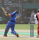 Italy's Vince Pennazza is bowled, Italy v Oman, WCL Division 3, Kowloon Cricket Club, Hong Kong, January 25, 2011