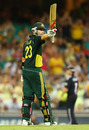 Michael Clarke raises his bat during his match-turning half-century, Australia v England, 6th ODI, Sydney, February 2, 2011
