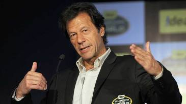 Imran Khan speaks at a promotional event in Mumbai