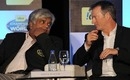 Arjuna Ranatunga and Steve Waugh, two World Cup winning captains, Mumbai, February 2, 2011