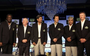 Six World Cup winning captains at an event in Mumbai, Mumbai, February 2, 2011