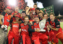 South Australia celebrate after winning the KFC Twenty20 Big Bash final, South Australia v New South Wales, KFC Twenty20 Big Bash final, Adelaide, February 5, 2011