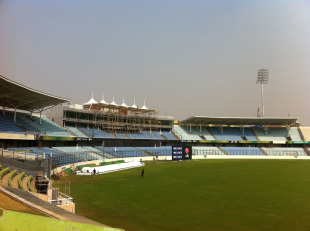 A view of the Shere Bangla National Stadium with its new hovering cover, Mirpur, February 6, 2011