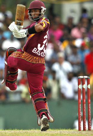 Carlton Baugh pulls on one leg behind square, Sri Lanka v West Indies, 3rd ODI, SSC, February 6, 2011