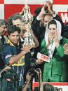 Arjuna Ranatunga receives the World Cup
