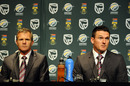Graeme Smith and Corrie van Zyl speak to the press, Johannesburg, February 8, 2011