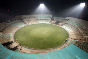 An aerial view of the Eden Gardens at its current state of completion, Kolkata, February 9, 2011