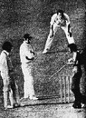 A spectator pleads with Brijesh Patel as India's innings crawls on, England v India, Lord's, World Cup, June 7, 1975