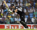 Martin Guptill flicks one to the leg side during his 130, Ireland v New Zealand, World Cup warm-up match, Nagpur, February 12, 2011