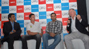 Dale Steyn and VVS Laxman talk to Sanjay Manjrekar and Ian Chappell at the ESPNcricinfo awards, Bangalore, February 14, 2011