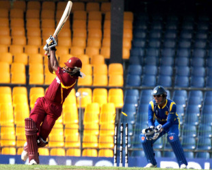 Chris Gayle misses one and is bowled, Sri Lanka v West Indies, World Cup warm-up match, Colombo, February 15, 2011