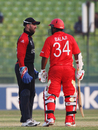 England wicketkeeper Matt Prior faces off with Canada tailender Balaji Rao, Canada v England, World Cup 2011 Warm-up match, Fatullah, February 16, 2011