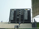 The scoreboard at the Shere Bangla stadium waits in eager anticipation for the opening game of the World Cup, Mirpur, Dhaka, February 18, 2011