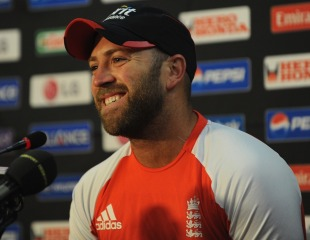 Matt Prior speaks to the media in Nagpur, World Cup 2011, February 20, 2011