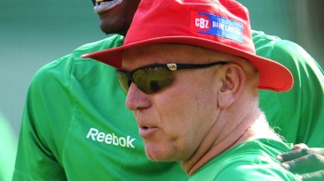Zimbabwe coach Alan Butcher during a training session