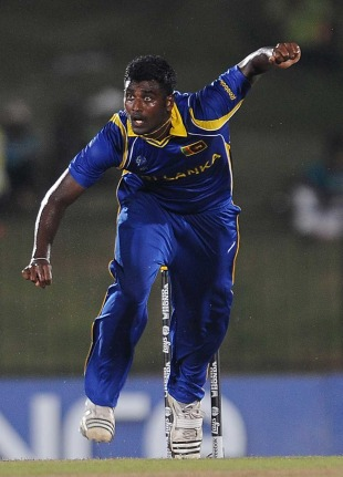Thisara Perera did plenty of damage to Canada, Sri Lanka v Canada, Group A, World Cup 2011, Hambantota, February 20, 2011