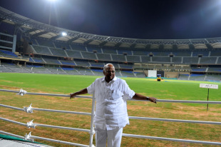 Sharad Pawar poses at the Wankhede Stadium, Mumbai, February 20, 2011