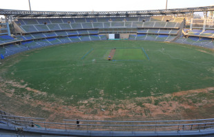 The Wankhede Stadium less than a month before it hosts its first World Cup game, Mumbai, February 20, 2011