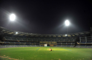 The Wankhede Stadium under lights, Mumbai, February 20, 2011