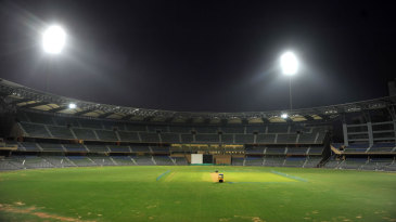 The Wankhede Stadium under lights