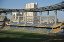The east and west stands of the renovated Wankhede Stadium have been left uncovered, Mumbai, February 20, 2011