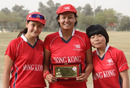 Stars of the show - Mariko Hill (47), Connie Wong (60*) and Chan Sau Har (4-3) performed brilliantly against Singapore at the ACC Women's Twenty20 Championships played in Kuwait on 21st February 2011
