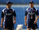 Ryan ten Doeschate and Netherlands coach Peter Drinnen at a training session, Vidarbha Cricket Association Ground, Nagpur