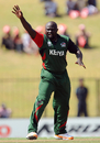 Thomas Odoyo launches an appeal during an impressive opening spell, Kenya v Pakistan, Group A, World Cup, Hambantota, February 23, 2011