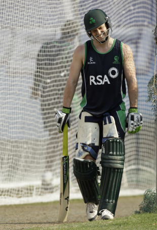 Ireland's Ed Joyce  in the nets, Shere Bangla Stadium, Mirpur, February 23, 2011