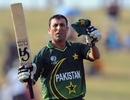 Younis Khan acknowledges applause for his fifty