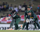 Steve Tikolo plays a sweep, Kenya v Pakistan, World Cup, Group A, Hambantota, February 23, 2011