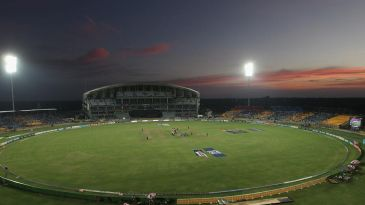 A general view of the Hambantota stadium