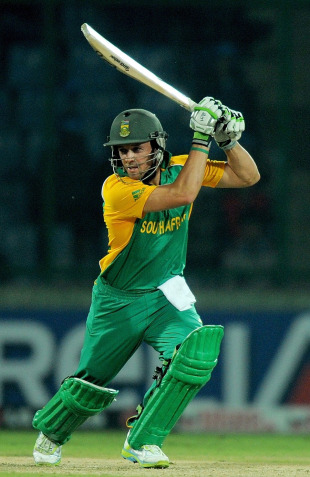 AB de Villiers got to a century off 97 balls, South Africa v West Indies, World Cup, Group B, Delhi, February 24, 2011