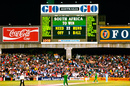 The scoreboard says it all, as South Africa's inaugural World Cup campaign comes to a bitter end, March 22, 1992