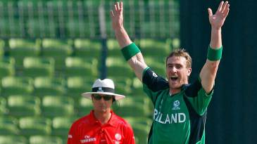 John Mooney struck Ireland's first blow when he removed Imrul Kayes