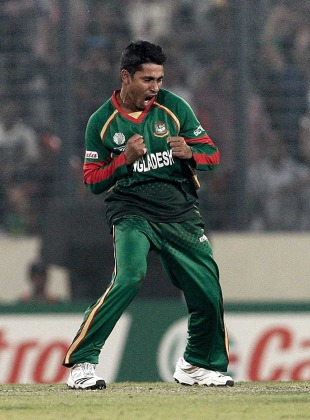 Mohammad Ashraful celebrated extravagantly after his wickets, Bangladesh v Ireland, World Cup 2011, Mirpur, February 25, 2010