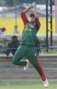 Peter Ongondo takes a catch during practice at the P Sara Oval, Colombo, February 26, 2011